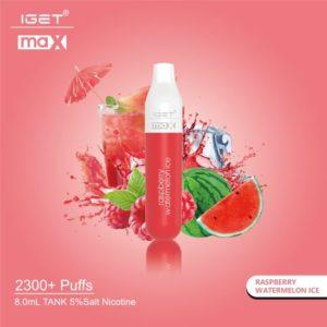 2300 Puff IGET Max - Raspberry Watermelon Ice